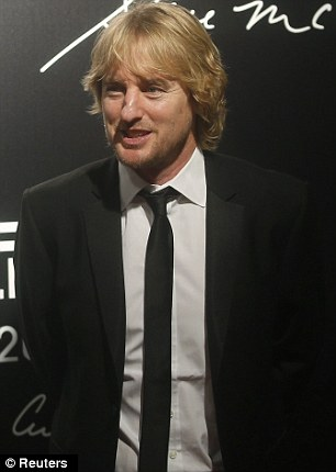 Dapper: Owen Wilson and Brazilian actor Rodrigo Santoro were dressed smartly in suits at the launch