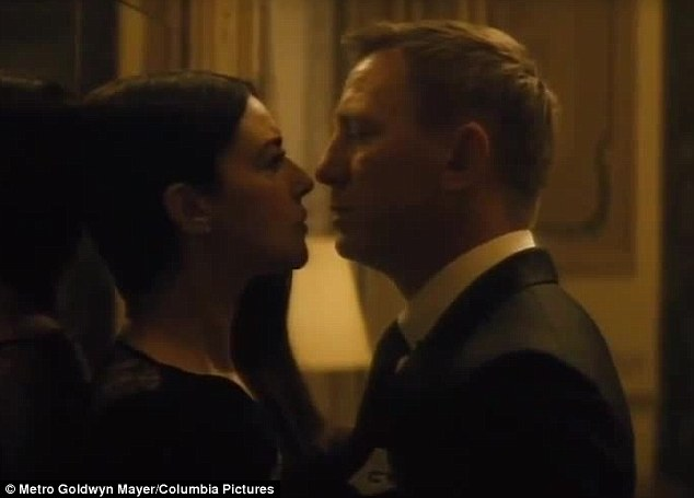 Up close: The 50-year-old beauty gets up close and personal with Daniel Craig