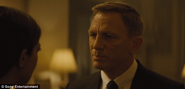 Typically Bond: The leading man responds to her concerns as he tells her,