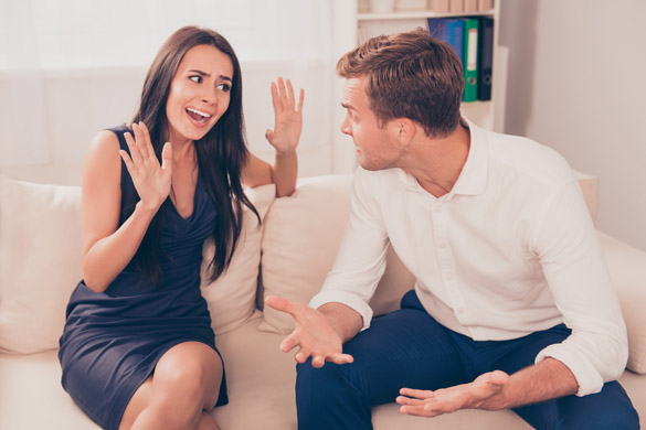 Two young lovers quarreling because of disagreements - What to do if your Scorpio Man starts Ignoring you