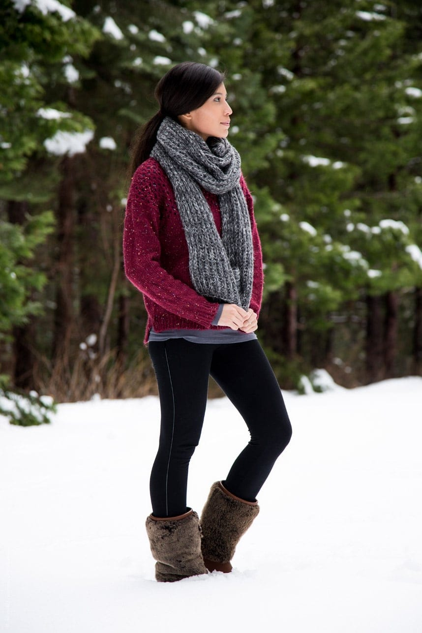 snow boots outfit - Stylishlyme.com
