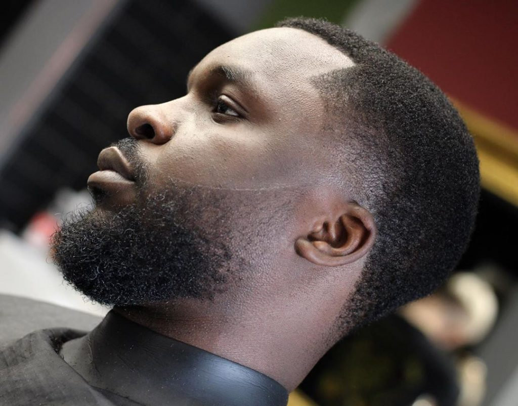 short haircuts for black men with beards