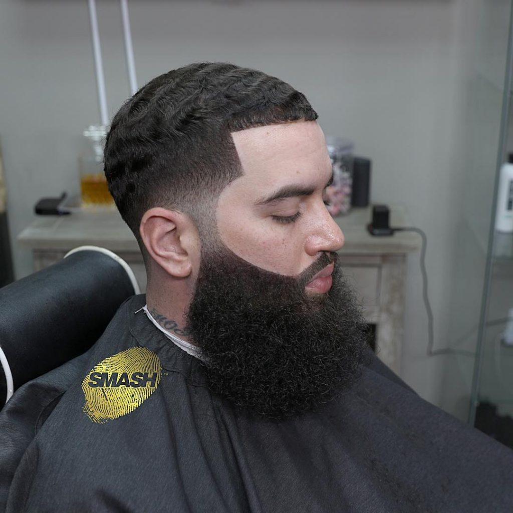 short haircuts for men with beards