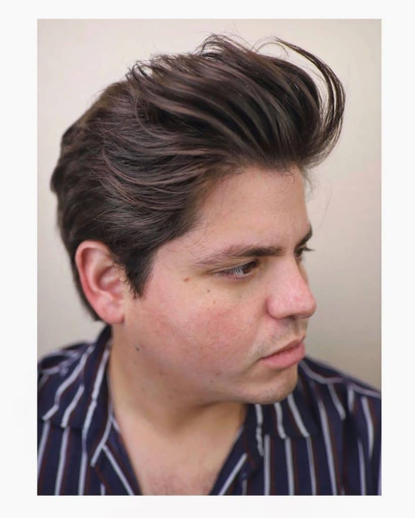Round face medium length hairstyles for men